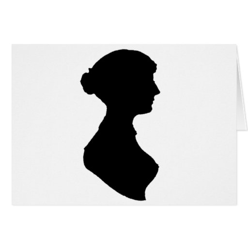 Victorian Regency Woman Silhouette Portrait Greeting Card ...