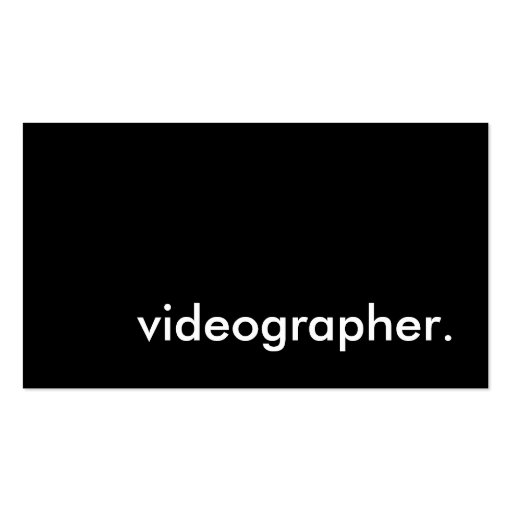 Videographer. Double-Sided Standard Business Cards (Pack