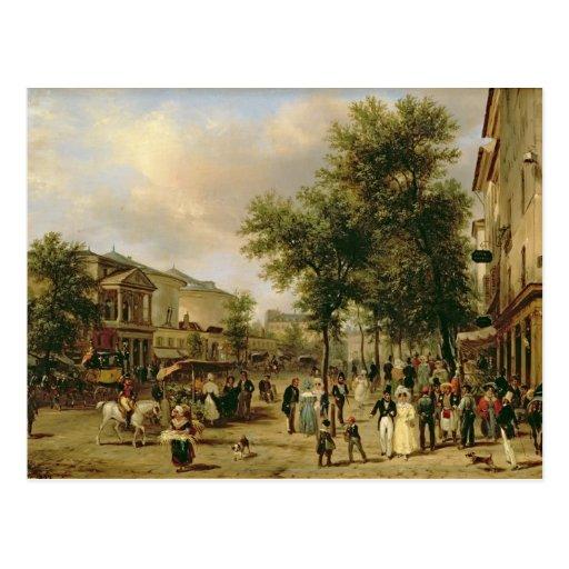 view of boulevard montmartre paris 1830 postcard zazzle. Black Bedroom Furniture Sets. Home Design Ideas
