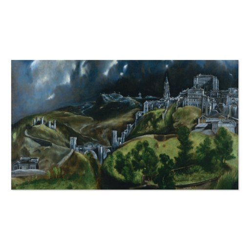 Stile Peplo Greco: View Of Toledo, El Greco Double-Sided Standard Business