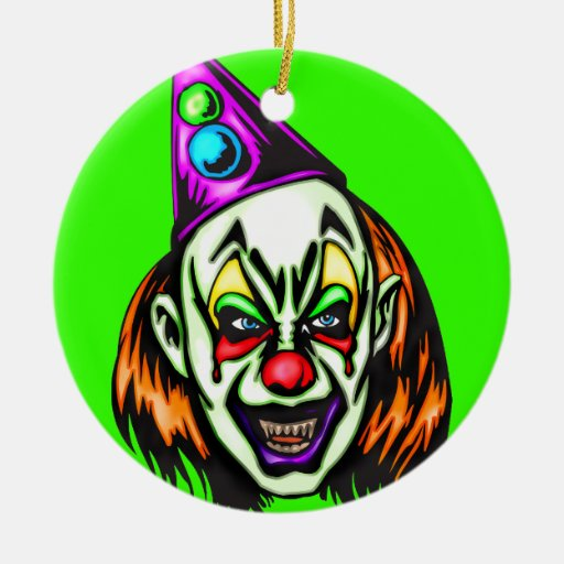 Evil Christmas Tree: Scary Clown Christmas Ornaments & Scary Clown Ornament