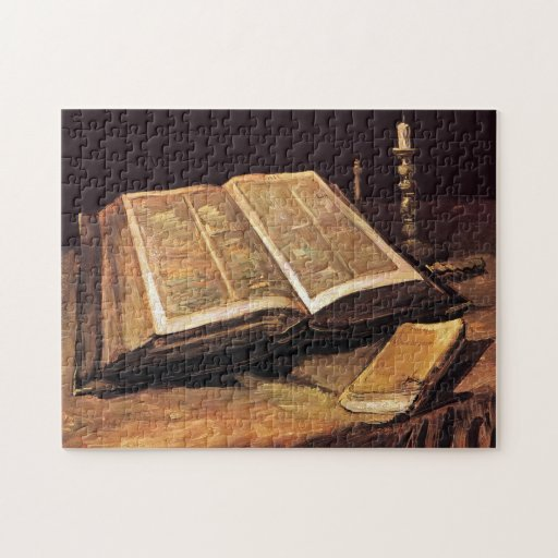 Still Life With Bible Jigsaw Puzzle