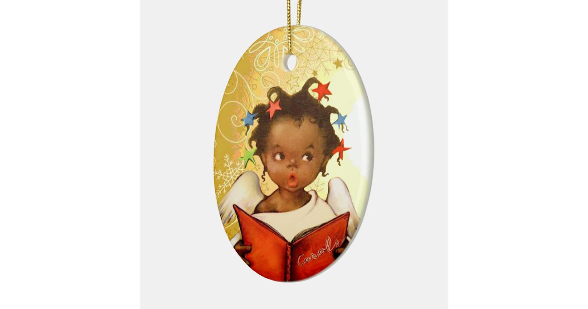 Vintage African American Angel Christmas Ornament Zazzle