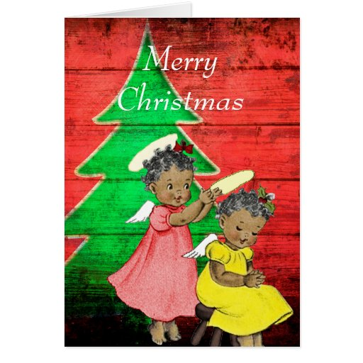 Vintage African American Christmas Card | Zazzle
