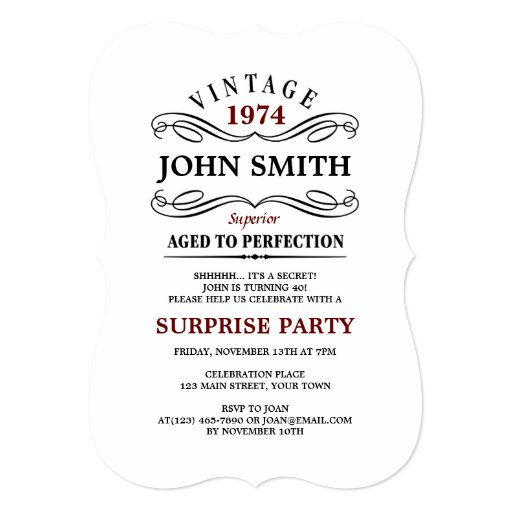 Most Popular 40th Birthday Party Invitations