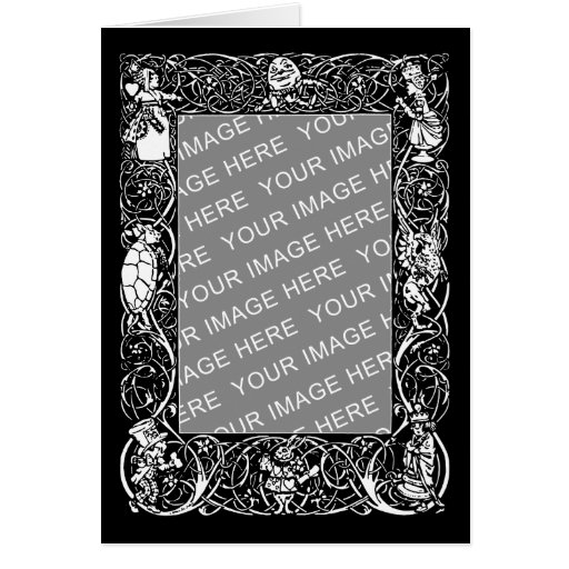 vintage alice fancy border greeting card  zazzle