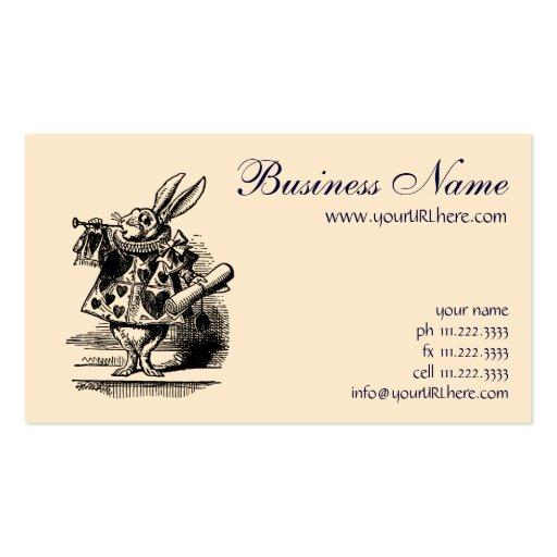 Vintage Alice In Wonderland Business Card Template