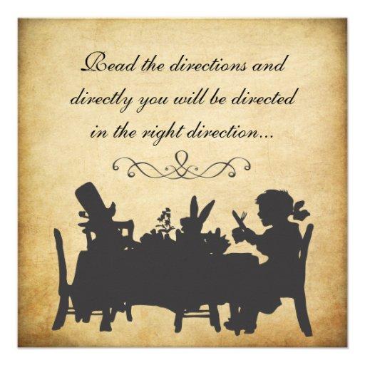 Vintage Alice In Wonderland Tea Party Birthday Personalized