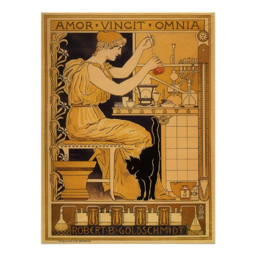 Vintage Art Nouveau Love Conquers All Scientist Posters