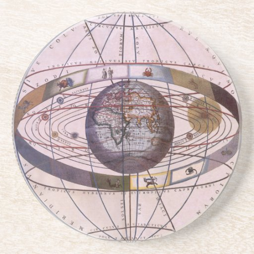 Vintage Astronomy, Antique Ptolemaic Solar System Beverage ...