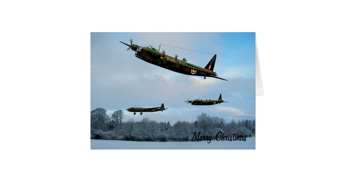 Vintage Aviation Christmas Card Zazzle