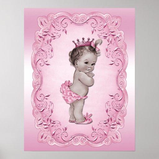 Vintage Baby Princess Pink Posters Zazzle