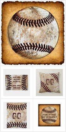 Vintage Baseball Decor PERSONALIZED