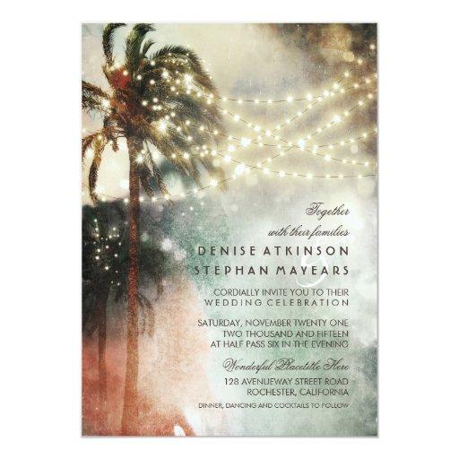 Vintage Beach Wedding Invitations: Vintage Beach Old Wedding Invitations