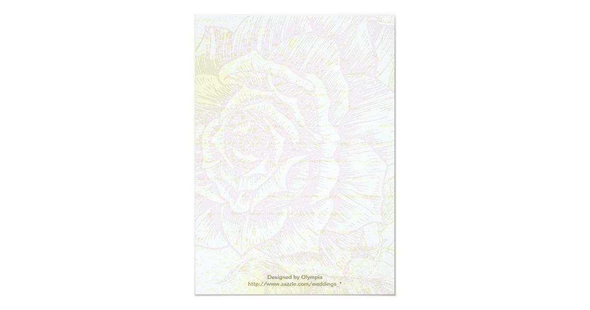 Purple Rose Wedding Invitations: Vintage Bellflower Purple Roses Wedding Invitation