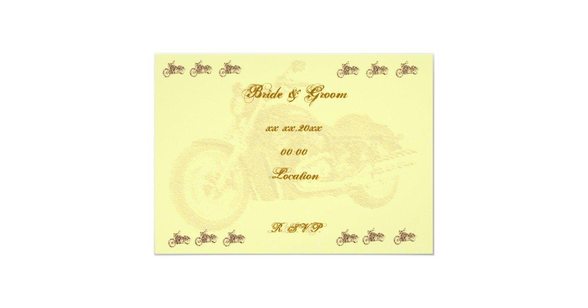 Biker Wedding Invitations: Vintage Biker Wedding Invitation