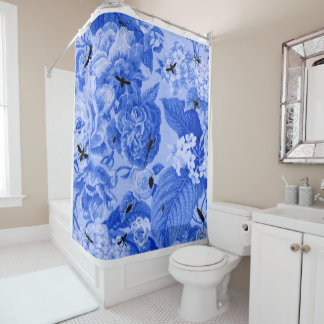 brown and blue shower curtains zazzle. Black Bedroom Furniture Sets. Home Design Ideas
