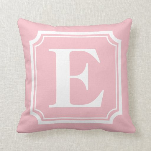 Vintage Border Blush Pink Personalized Monogram Throw