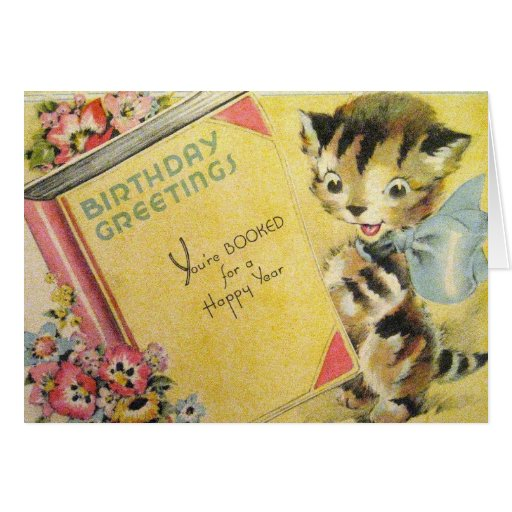 vintage birthday cats cat - photo #25