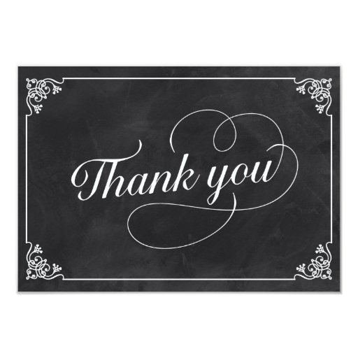 Thank You Quotes For Business Clients: Vintage Chalkboard Thank You Card