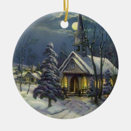 Vintage Religious Christmas Ornament: Church Christmas Ornaments & Church Christmas Ornament