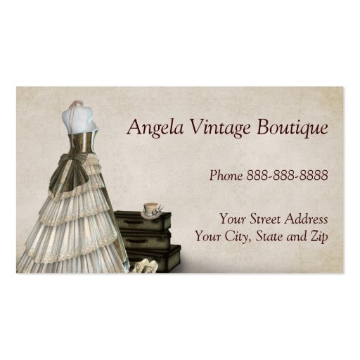 Clothing store business cards