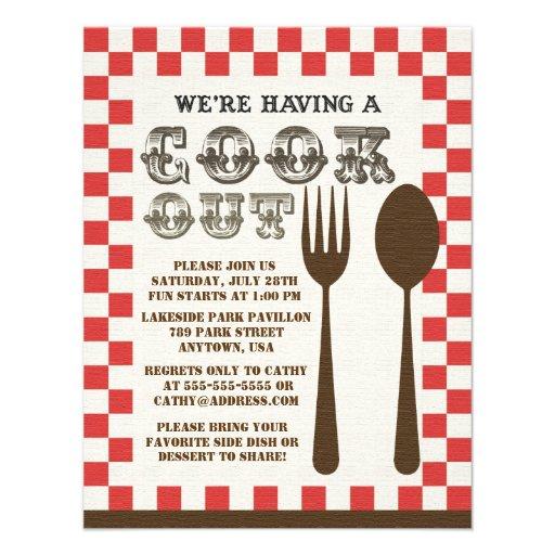 Personalized Cookouts Invitations | CustomInvitations4U com