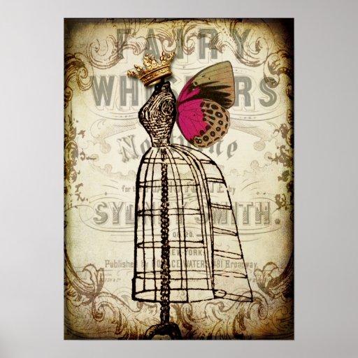 Vintage Fairy Dress Form Poster Zazzle