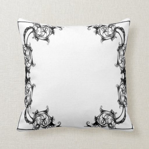 vintage floral black and white damask throw pillow zazzle. Black Bedroom Furniture Sets. Home Design Ideas