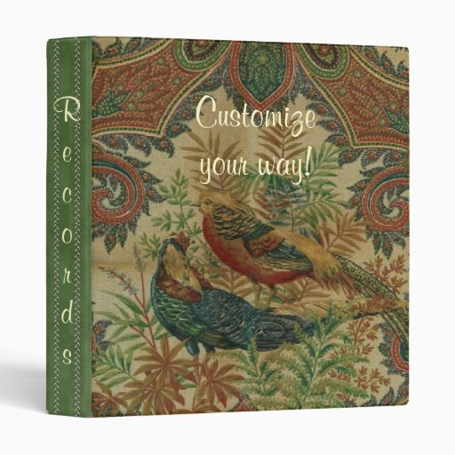 Vintage French Country Birds Avery Binder