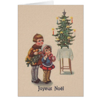vintage french christmas card greeting cards zazzle. Black Bedroom Furniture Sets. Home Design Ideas