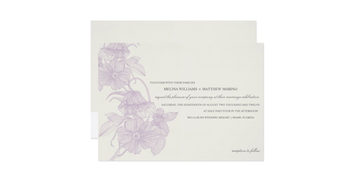 Garden Wedding Invitations: WEDDING INVITATION