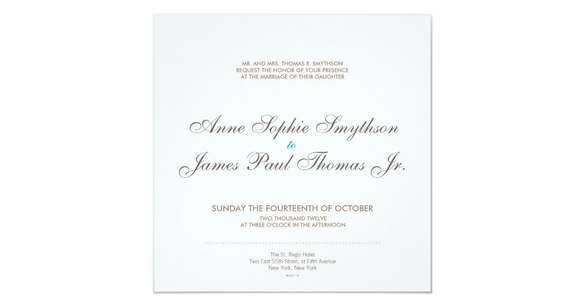 Vintage Glam Wedding Invitations: Vintage Glamour Modern Wedding Invitation