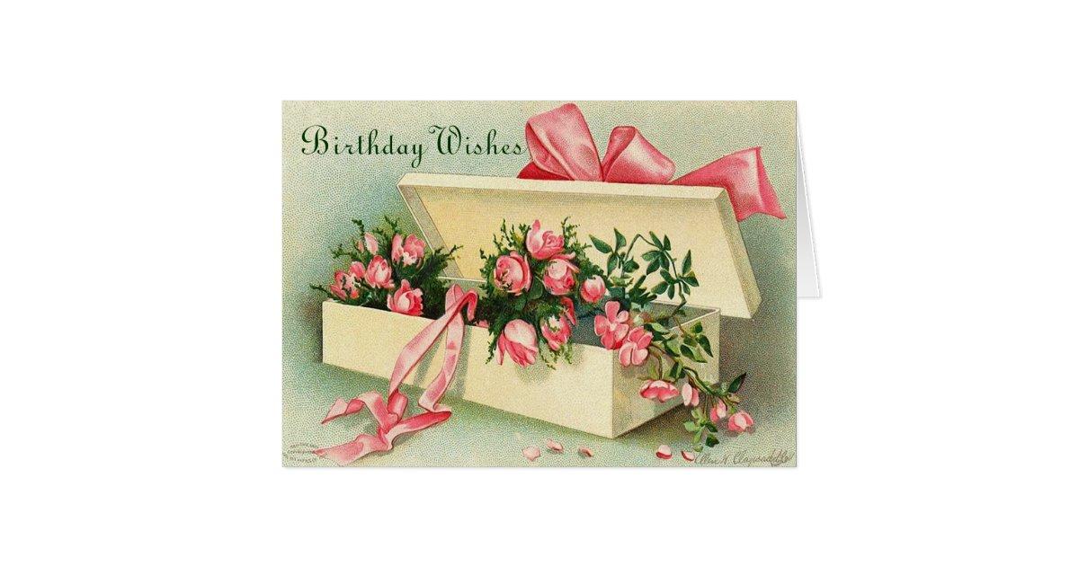 Vintage Happy Birthday Card