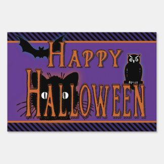 Vintage Halloween Yard & Lawn Signs | Zazzle