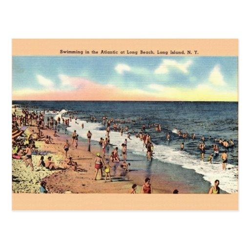 Long Island: Vintage Long Beach Long Island New York Postcard