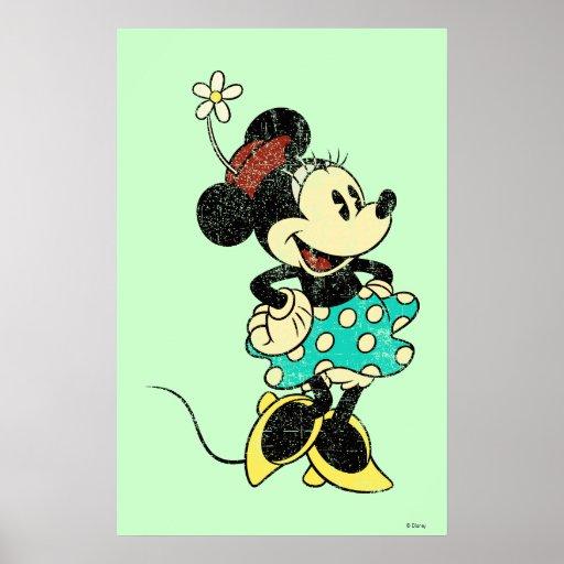 Vintage Minnie Mouse 1 Posters | Zazzle