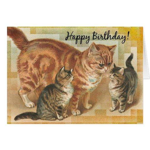 vintage birthday cats cat - photo #29