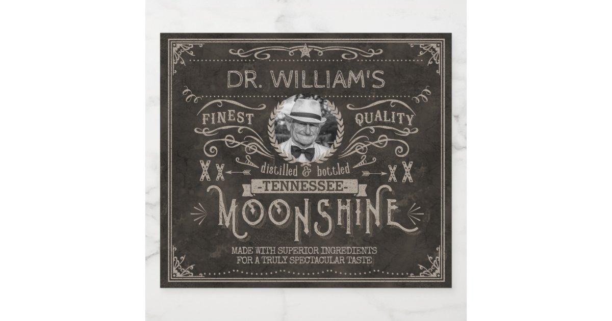 Vintage Moonshine Hillbilly Medicine Custom Brown Beer ...