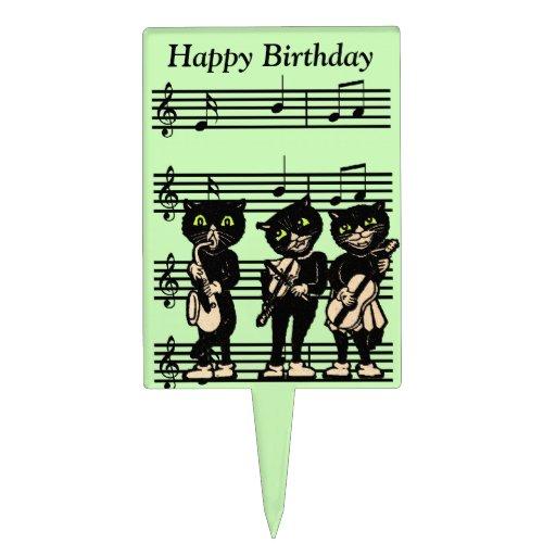 Rectangular Birthday Cake For A Musician