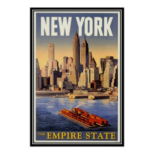 vintage new york city usa posters zazzle. Black Bedroom Furniture Sets. Home Design Ideas
