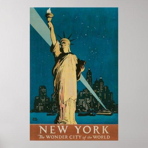 vintage new york travel poster zazzle. Black Bedroom Furniture Sets. Home Design Ideas
