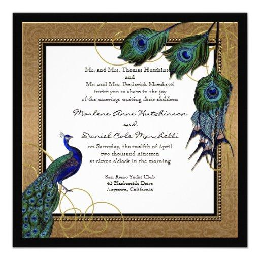 Decorative Wedding Invitation Badge 7: Formal Elegant Wedding 5.25x5