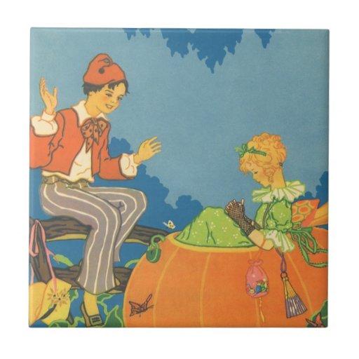 Peter White Nursery Rhyme: Vintage Nursery Rhyme, Peter Peter Pumpkin Eater Ceramic