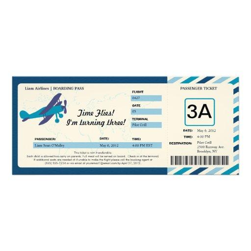 Create A Airplane Ticket Invitation | Party Invitations Ideas