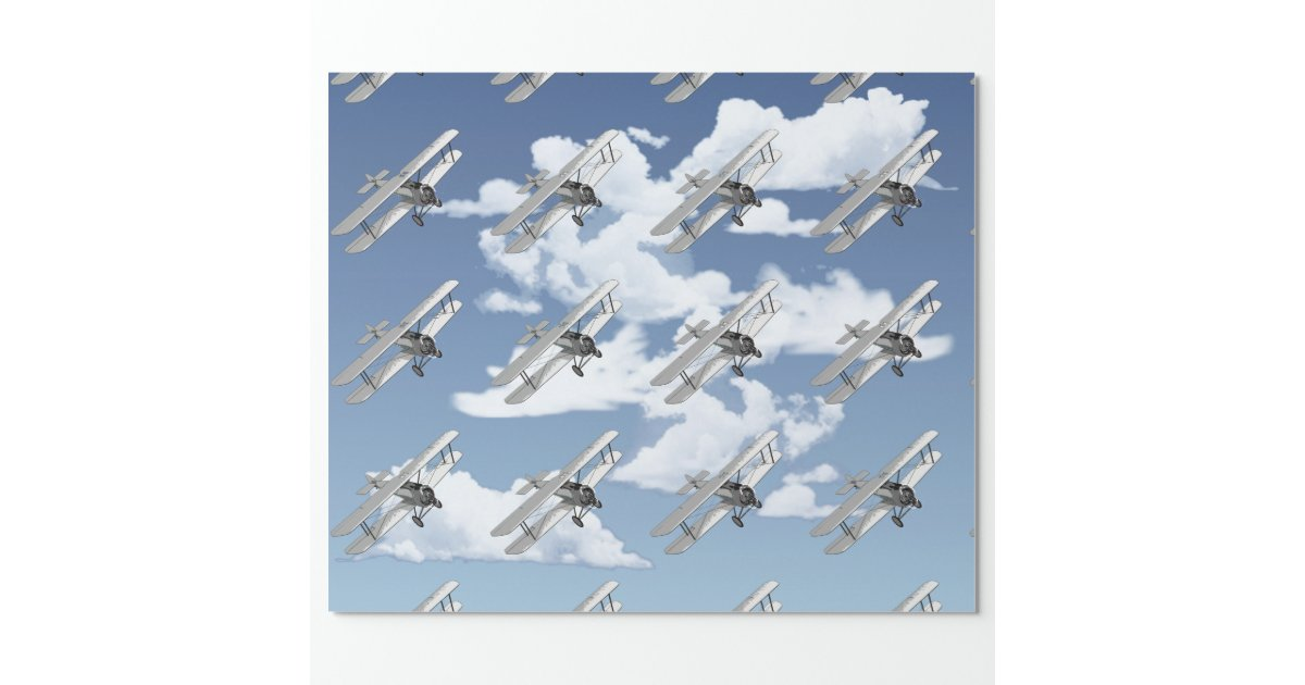 Vintage Plane Wrapping Paper Zazzle
