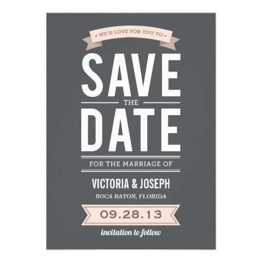 "VINTAGE POSTER | SAVE THE DATE ANNOUNCEMENT 5"" X 7"" INVITATION CARD ..."