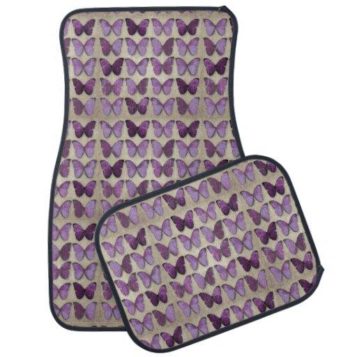 Vintage Purple Butterflies Car Mats Floor Mat