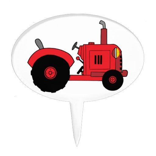 Vintage Tractor Wedding Cake Topper