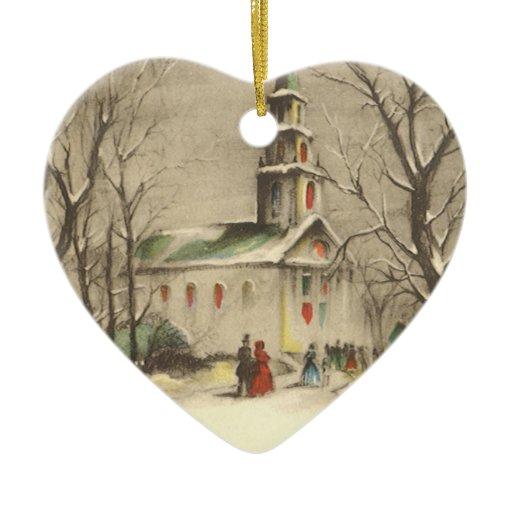 Vintage Religious Christmas Ornament